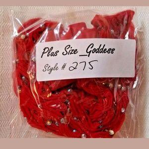 1e03819a6883f juj Accessories   Plus Size Rhinestone Fishnet Pantyhose 275 Red ...